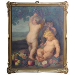 Old Master Paintings, Children's Group after Rubens, 20th Century