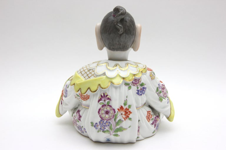 Old Meissen Porcelain Figure as Wiggle Pagoda with Gold and Flower Painting For Sale 3