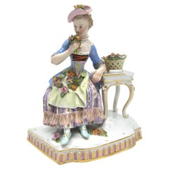 """Old Meissen Porcelain Figure from the 5 Senses """"The Smell"""""""