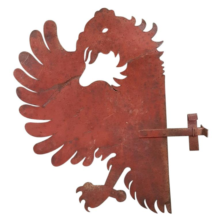 Old Metal Signboard of a Half Eagle For Sale