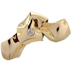 Old Mine Cut Diamond English Brooch Pin
