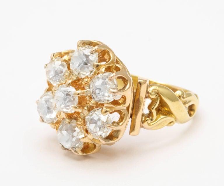 Old Mine Cut Old Mine Diamond Ring, 18 Karat Victorian For Sale