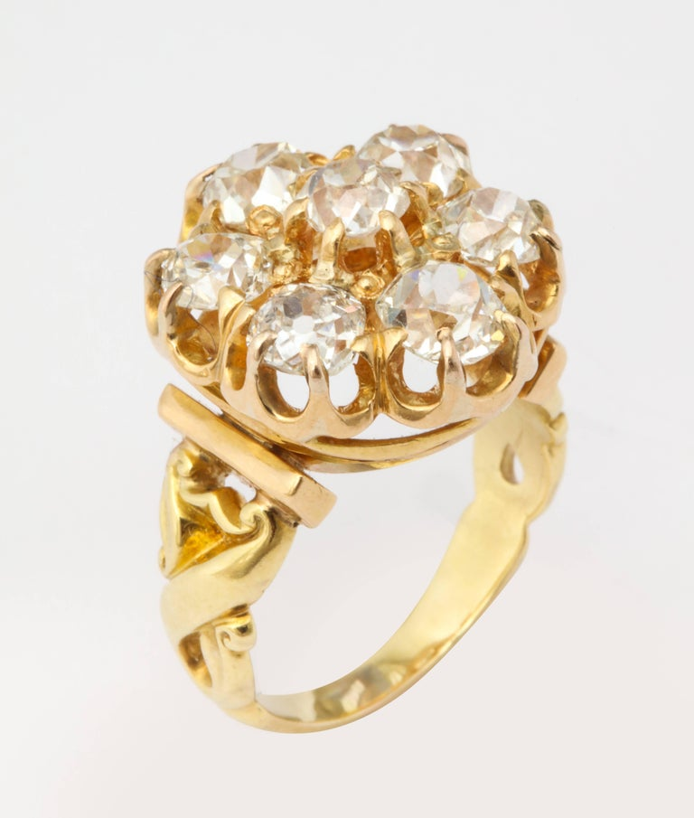 Old Mine Diamond Ring, 18 Karat Victorian For Sale 1