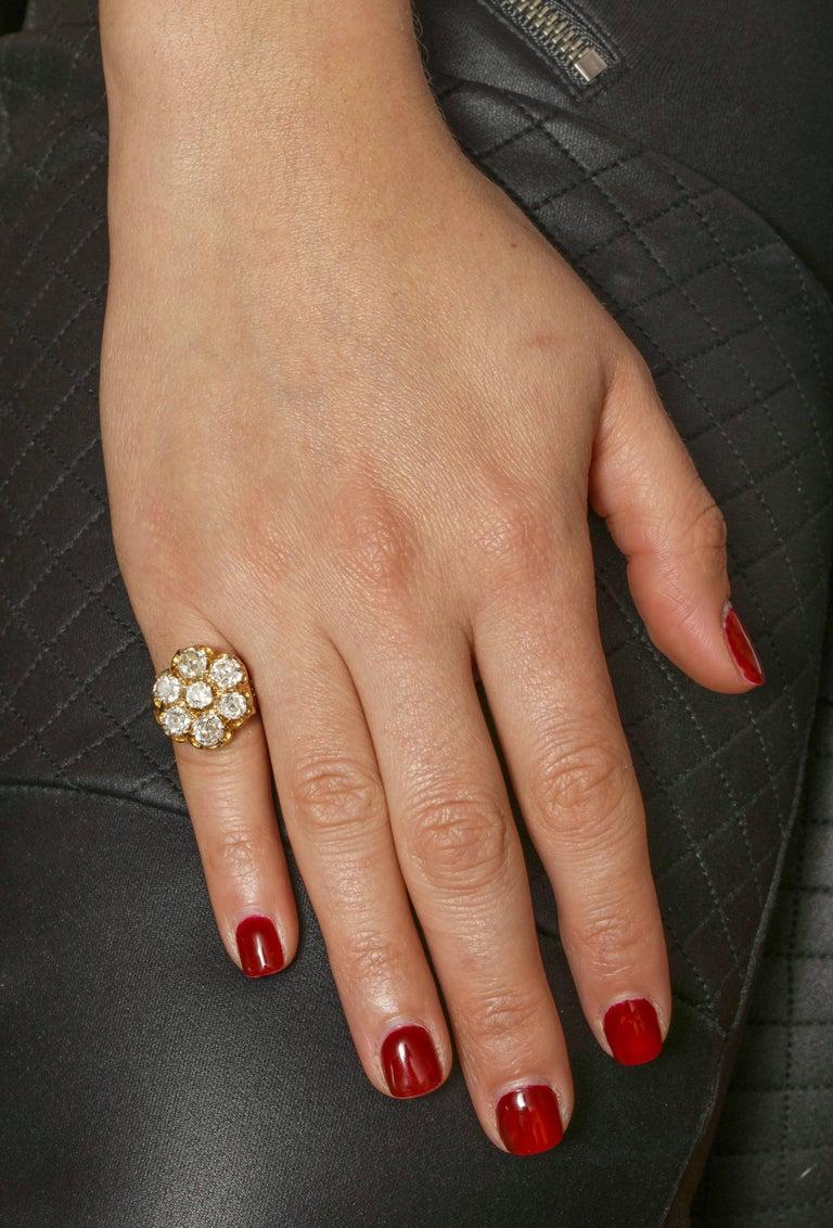 Old Mine Diamond Ring, 18 Karat Victorian For Sale 2