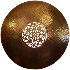 Old Moroccan Copper Wall Sconce