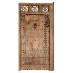 Old Moroccan Door with Judas / Wicket Door, 20th Century