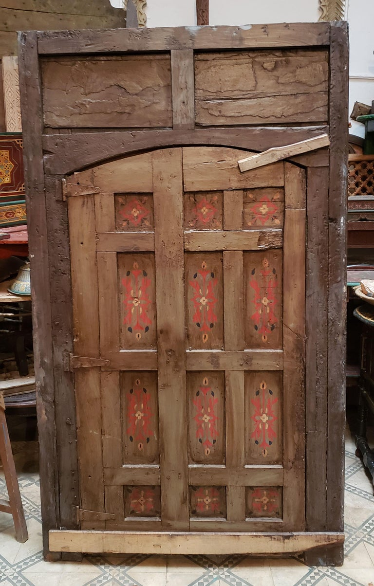 This is a beautiful single panel Moroccan door measuring approximately 79.5