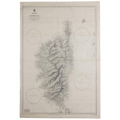 Old Nautical Map of Corsica