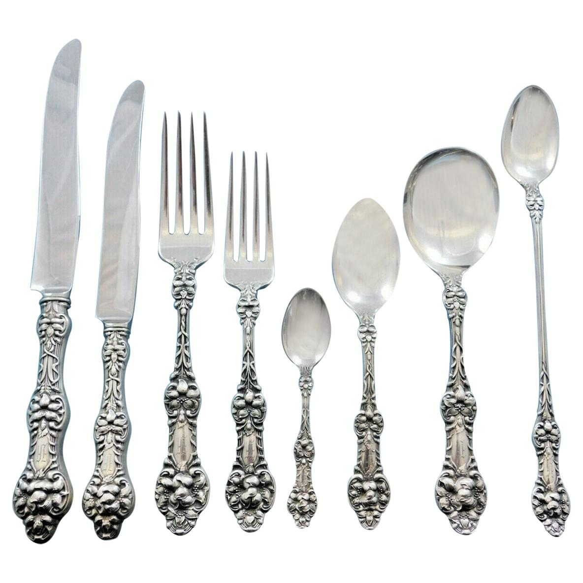"ALVIN SILVER-ORANGE BLOSSOM-6 1//2"" DINNER FORK"