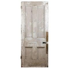 Old Original Four Panel Beaded Door, 20th Century