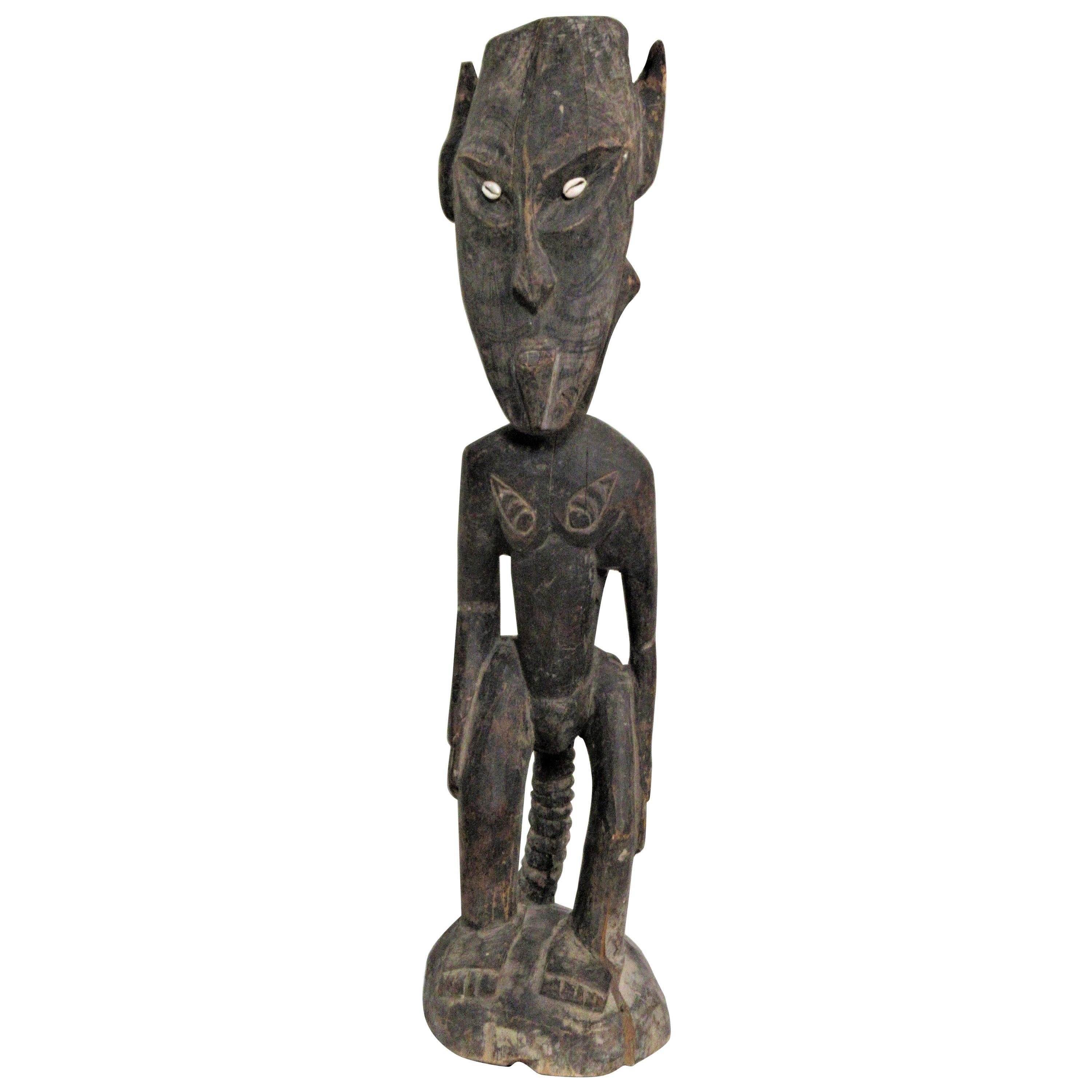 Old Papua New Guinea Ancestral Standing Figure