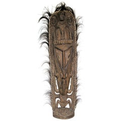 Old Papua New Guinea Men's Sacred Spirit House Totem