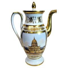 Old Paris Porcelain Coffee Pot, Empire Period, Circa 1800