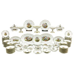 """Old Paris"" Porcelain Dinner Service, 19th Century, France"