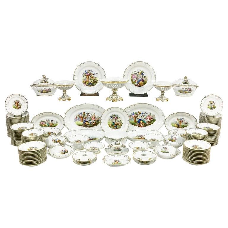"""Old Paris"" Porcelain Dinner Service, 19th Century, France For Sale"