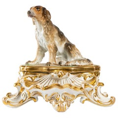 Old Paris Porcelain Inkwell, 19th Century