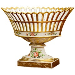 Old Paris Porcelain Reticulated Compote, Paris, circa 1815