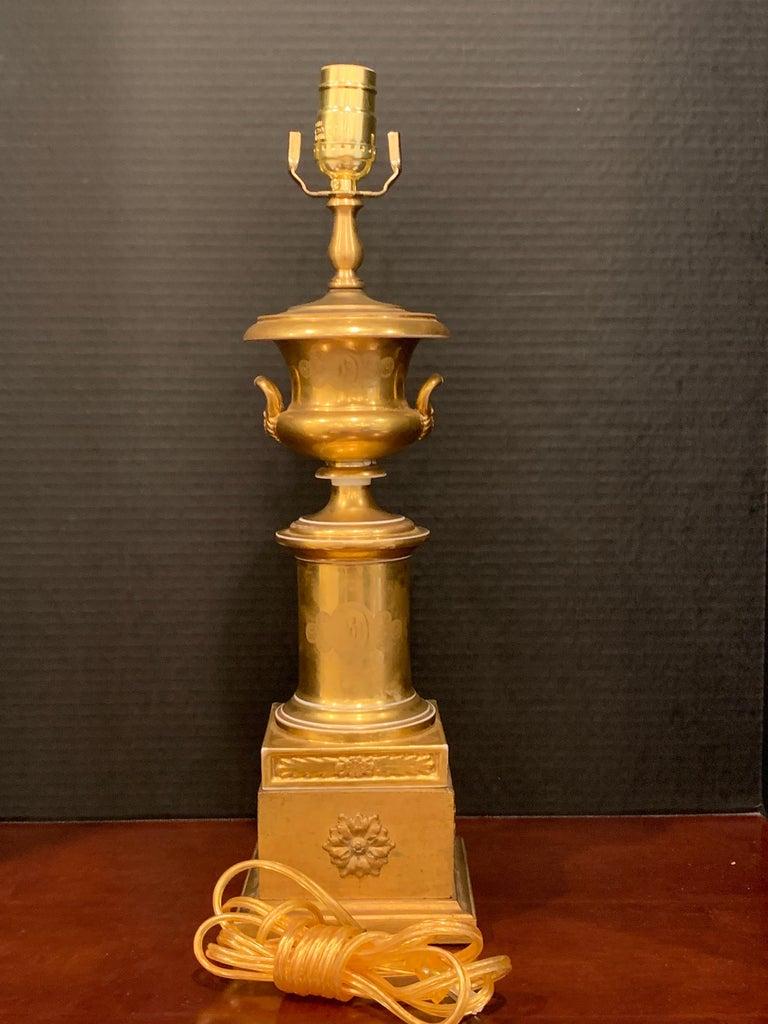 Old Paris Tyrollian Fashion Motif Campana Urn, Now as a Lamp For Sale 1