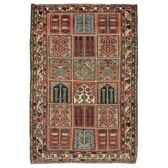 Old Persian Bakhtiari Garden Design Rug
