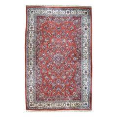 Old Persian Sarouk Hand Knotted Red Oversize Mint Cond Rug