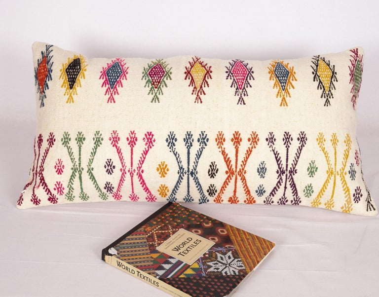 Old Pillow Case Made from a Sothern Anatolian Cicim Kilim, Mid-20th Century For Sale 1