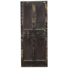 Old Pine Four Panel Interior Door, 20th Century