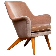1950s Pedro Chair by Carl Gustaf Hiort Af Ornäs for Puunveisto Oy-Trasnideri