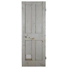 Old Plain Four Panel Interior Door, 20th Century