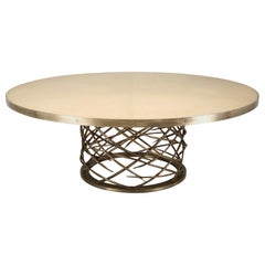 Old Plank's Handmade Woven Solid Bronze Table Base Available in Any Diameter