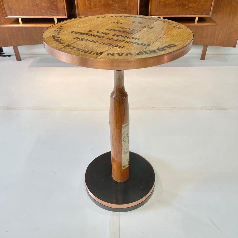Old Rip Van Winkle Barrel Head Table For Sale 8