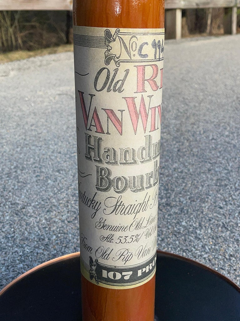 Old Rip Van Winkle Barrel Head Table For Sale 11