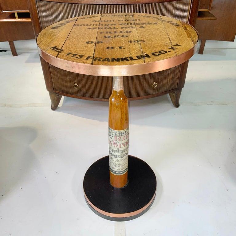 American Old Rip Van Winkle Barrel Head Table For Sale