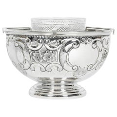 Old Sheffield Silver Plate / Copper Three-Piece Caviar Service