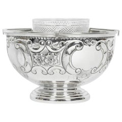 Old Sheffield Silver Plate / Copper Three-Piece Caviar Set