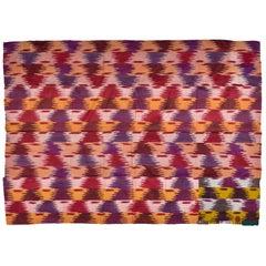 Double Layer Old Silk Ikat Uzbekistan