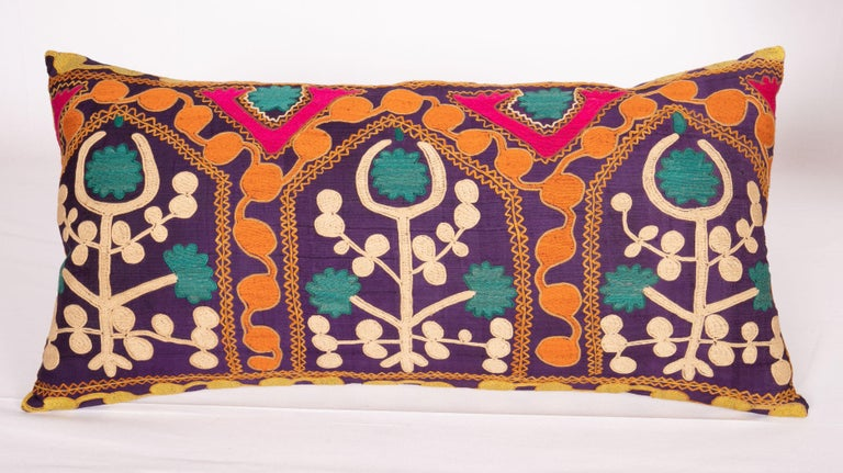 Cotton Old Silk Suzani Pillow Cases Made from an Early 20th Century Suzani For Sale