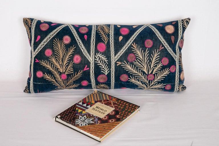 Old Silk Velvet Suzani Pillow Case, Uzbekistan, Early 20th Century 1