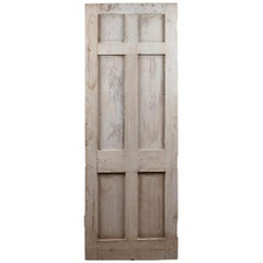 Old Six Panel Pine Salvaged Door, 20th Century