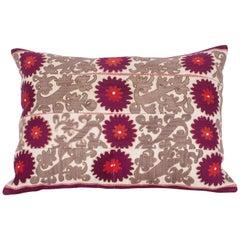 Old Suzani Pillow Case Made from a Samarkand Suzani Fron Uzbekistan, 1930s