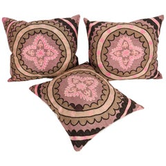Old Suzani Pillows Made from an Early 20th Century Tashkent Suzani