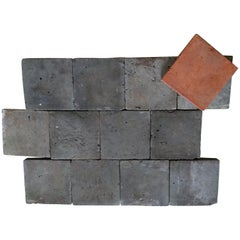 Old Terracotta Floortiles, Anthracite