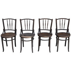 Old Thonet Chairs, Set of 4