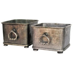 Tinned Bronze Tabletop Cachepot Planters