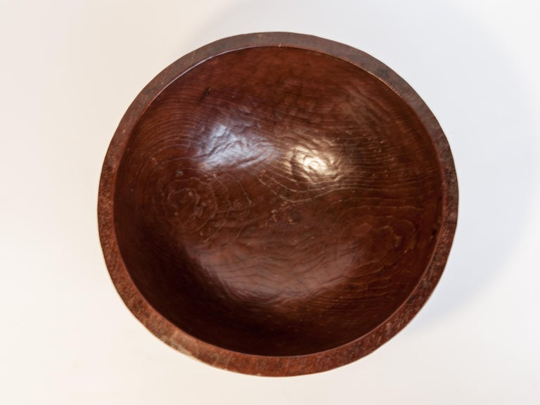 Old Tribal Wooden Bowl from the West Nepal Himal, Mid-20th Century For Sale 7