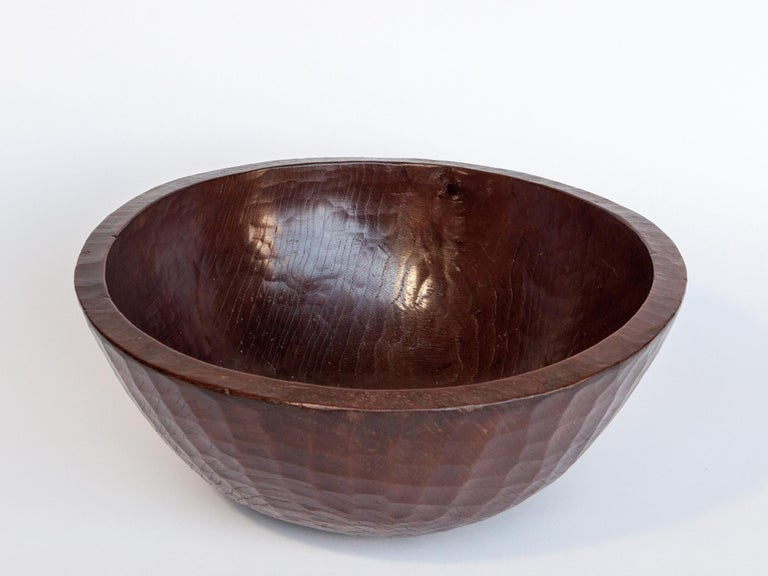 Old tribal wooden bowl from the West Nepal Himal, mid-20th century. Measures: 14