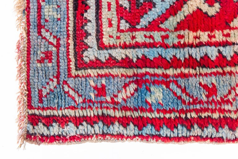 Hand-Knotted Old Turkish Ushak Runner For Sale