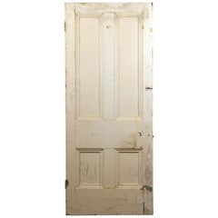Old Victorian Beaded Four Panel Door, 20th Century