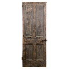 Old Victorian Four Plain Panel Interior Door, 20th Century