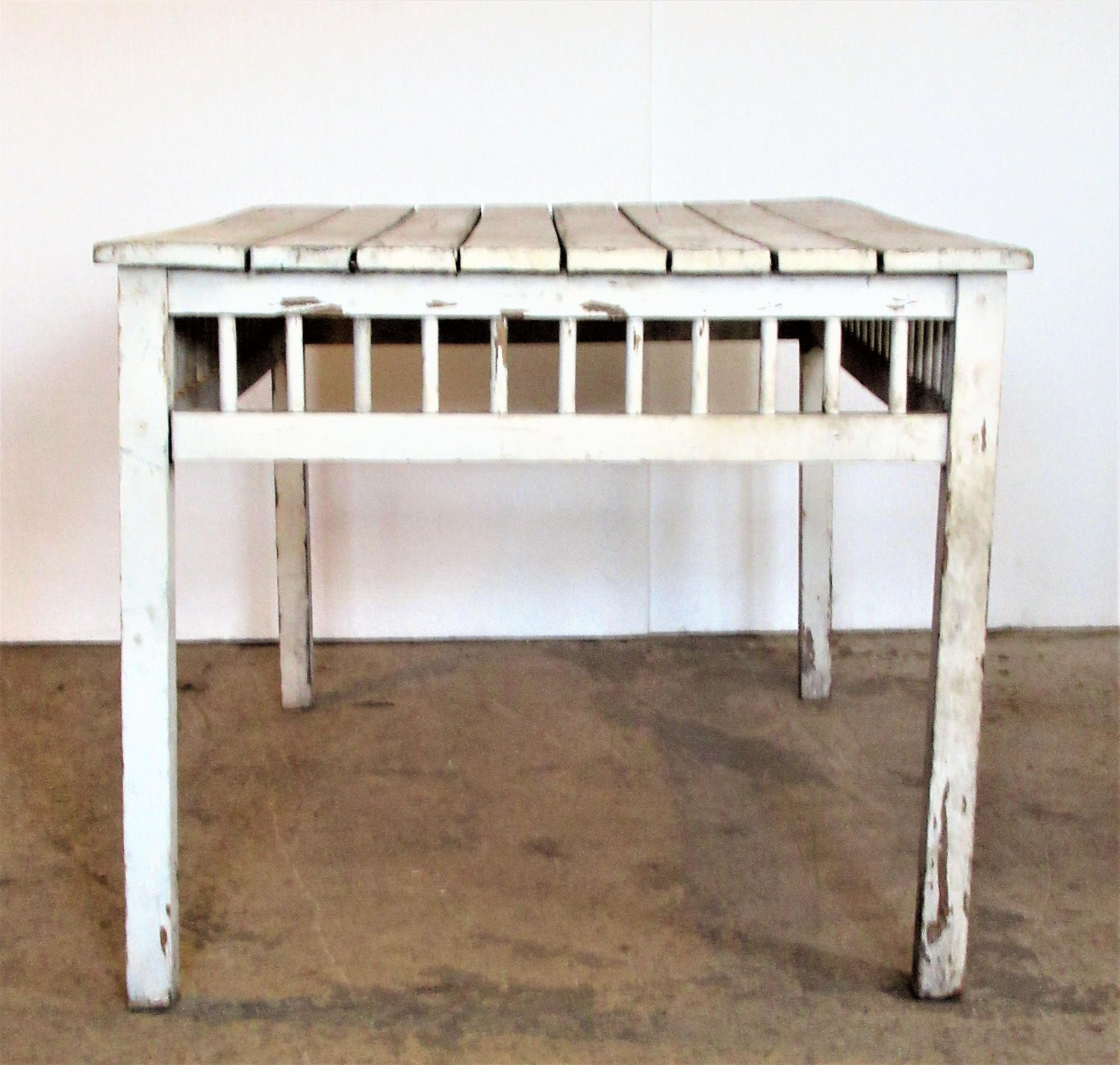 This Is Our 9ft Reclaimed Wood Top Farmhouse Dining Table With 2 Drawers 6 Ribbon Back Chairs Has Been Made 35mm Thick