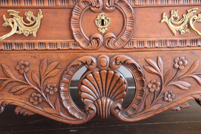 Old World Mahogany Louis XV Secretary For Sale 9